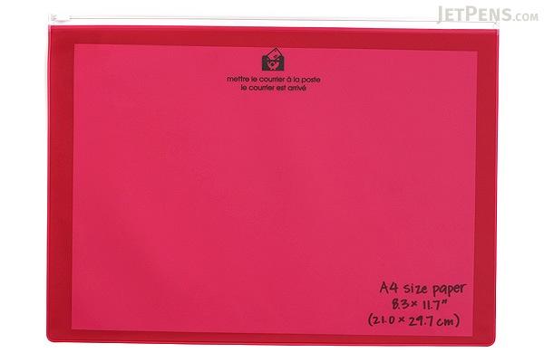 Etranger di Costarica Zipper Case - A4 - Transparency Pink - ETRANGER DI COSTARICA ZIP-A4-70