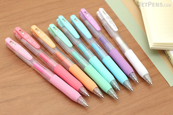 Zebra Sarasa Push Clip Gel Pen - 0.5 mm - Milk - 5 Color Set - ZEBRA JJ15-5C-MK