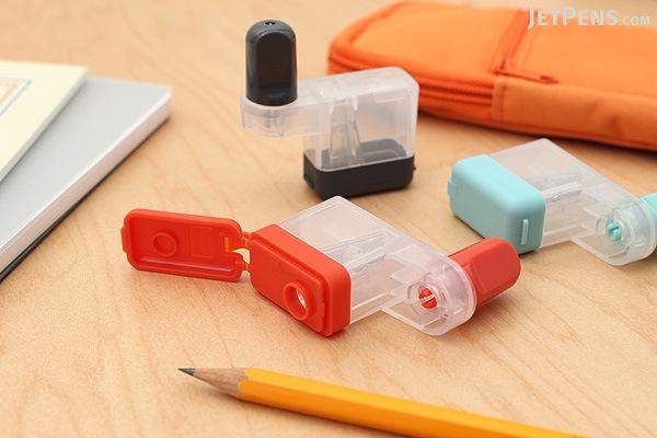 Carl Kuru Kuru Carl-Kun Pencil Sharpener - Orange - CARL CPS-80-O
