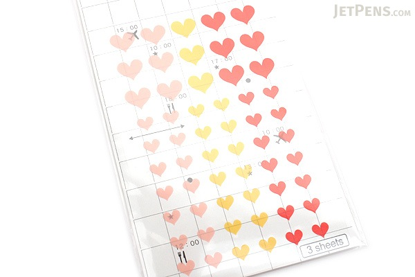 Hisago Iro Label Planner Stickers - Clear Heart - Cheerful - HISAGO ML021