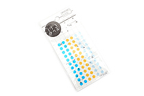 Hisago Iro Label Planner Stickers - Clear Circle - Marine - HISAGO ML126