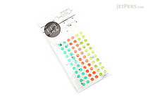 Hisago Iro Label Planner Stickers - Clear Circle - Herb - HISAGO ML128