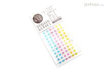 Hisago Iro Label Planner Stickers - Clear Circle - Pop - HISAGO ML147