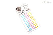 Hisago Iro Label Planner Stickers - Clear Circle - Pop - HISAGO ML147