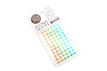 Hisago Iro Label Planner Stickers - Clear Circle - Natural - HISAGO ML148