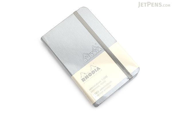 "Rhodia Webnotebook - 3.5"" x 5.5"" - Lined - Silver - RHODIA 118067"