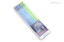 Tombow New Ippo Kids-Friendly Pencil Set - Mono R - 2B - Navy + Blue + Light Green - Pack of 12 - TOMBOW KR-KPLM012B