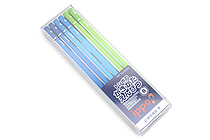 Tombow New Ippo Kids-Friendly Pencil Set - Mono R - B - Navy + Blue + Light Green - Pack of 12 - TOMBOW KR-KPLM01B