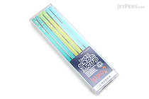 Tombow New Ippo Kids-Friendly Pencil Set - Mono R - 2B - Green + Light Green + Light Blue - Pack of 12 - TOMBOW KR-KPLN012B