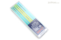 Tombow New Ippo Kids-Friendly Pencil Set - Mono R - B - Green + Light Green + Light Blue - Pack of 12 - TOMBOW KR-KPLN01B