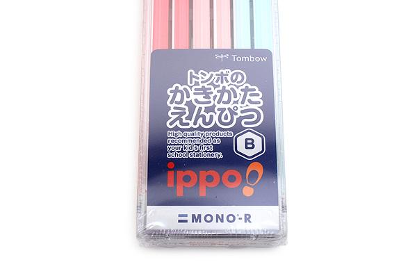 Tombow New Ippo Kids-Friendly Pencil Set - Mono R - B - Pink + Light Pink + Light Blue - Pack of 12 - TOMBOW KR-KPLW01B
