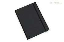 "Clairefontaine Basics Life Unplugged Clothbound Notebook - 6"" x 8.25"" - Black - CLAIREFONTAINE 795461"