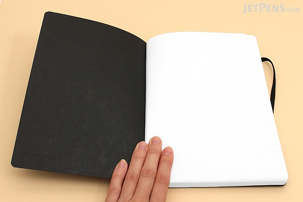 """Clairefontaine Basics Life Unplugged Clothbound Notebook - 6"""" x 8.25"""" - Black - CLAIREFONTAINE 795461"""