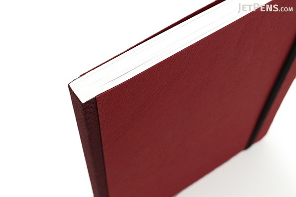 """Clairefontaine Basics Life Unplugged Clothbound Notebook - 6"""" x 8.25"""" - Red - CLAIREFONTAINE 795462"""