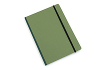 "Clairefontaine Basics Life Unplugged Clothbound Notebook - 6"" x 8.25"" - Green - CLAIREFONTAINE 795463"