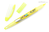 Uni Propus Window Q-Dry Double-Sided Highlighter - 4.0 mm / 0.6 mm - Yellow - UNI PUS138T.2