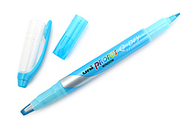 Uni Propus Window Q-Dry Double-Sided Highlighter - 4.0 mm / 0.6 mm - Sky Blue - UNI PUS138T.48
