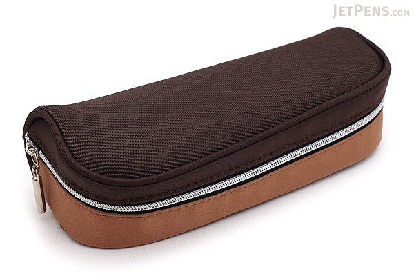 Raymay Big Open Pen Case - Brown - RAYMAY FY323 C