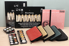 New Products: Pencil Cases, Finetec Watercolors, Vellum Books, Calligraphy Paper, and More!