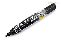 Pilot Board Master Whiteboard Marker - Medium Fine Round Tip - Black - PILOT WMBM-12FM-B