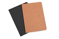 "Clairefontaine Basics Life Unplugged Staplebound Notebooks Duo - 5.75"" x 8.25"" - Black/Tan - CLAIREFONTAINE 733160"