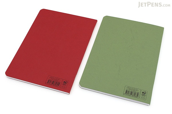 "Clairefontaine Basics Life Unplugged Staplebound Notebooks Duo - 5.75"" x 8.25"" - Red/Green - CLAIREFONTAINE 733169"