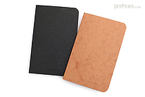 "Clairefontaine Basics Life Unplugged Staplebound Notebooks Duo - 3.5"" x 5.5"" - Black/Tan - CLAIREFONTAINE 734160"
