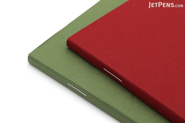 """Clairefontaine Basics Life Unplugged Staplebound Notebooks Duo - 3.5"""" x 5.5"""" - Red/Green - CLAIREFONTAINE 734169"""