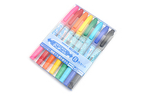 Zebra Mackee Wet-Erase Double-Sided Marker - Extra Fine / Fine - 8 Color Set - ZEBRA WYTS17-8C