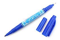 Zebra Mackee Wet-Erase Double-Sided Marker - Extra Fine / Fine - Blue - ZEBRA P-WYTS17-BL