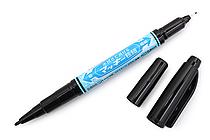 Zebra Mackee Wet-Erase Double-Sided Marker - Extra Fine / Fine - Black - ZEBRA P-WYTS17-BK