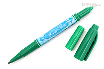Zebra Mackee Wet-Erase Double-Sided Marker - Extra Fine / Fine - Green - ZEBRA P-WYTS17-G