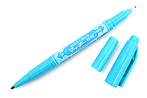 Zebra Mackee Wet-Erase Double-Sided Marker - Extra Fine / Fine - Light Blue - ZEBRA P-WYTS17-LB