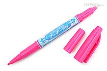 Zebra Mackee Wet-Erase Double-Sided Marker - Extra Fine / Fine - Pink - ZEBRA P-WYTS17-P