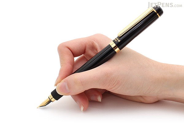 Ohto Proud Fountain Pen - Black - Fine Nib - OHTO FF-15F-BLACK