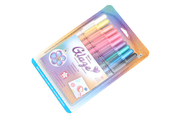Sakura Glaze Gel Pen - 10 Color Set - SAKURA 38370