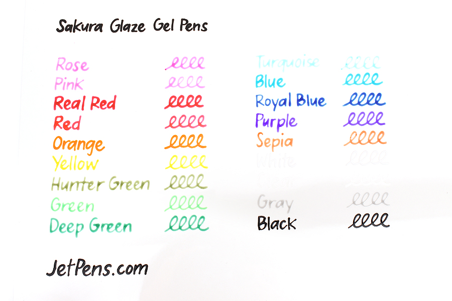 Sakura Glaze Gel Pen - Gray - Pack of 2 - SAKURA 38500