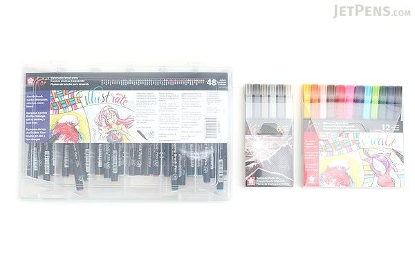 Sakura Koi Coloring Brush Pen - 48 Color Set - SAKURA XBR-48SA