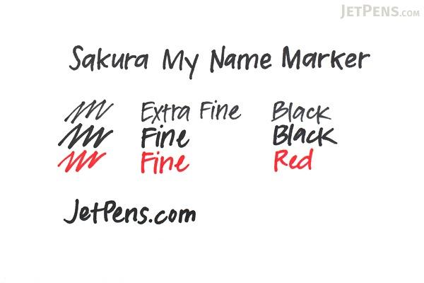 Sakura My Name Marker - Fine - Red - SAKURA YK#19