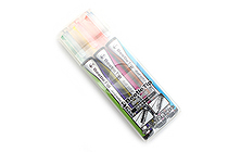 Kokuyo Beetle Tip Dual Color Highlighter - 3 Color Set - KOKUYO PM-L303-3S