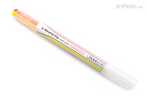 Kokuyo Beetle Tip Dual Color Highlighter - Soft Yellow / Soft Pink - KOKUYO PM-L313-1