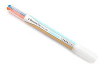 Kokuyo Beetle Tip Dual Color Highlighter - Soft Orange / Soft Blue - KOKUYO PM-L313-3