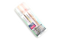 Kokuyo Beetle Tip Dual Color Highlighter - Soft Color - 3 Color Set - KOKUYO PM-L313-3S