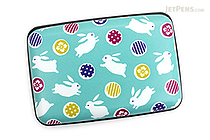 Kurochiku Japanese Pattern Accordion Card Case - Tobi Usagi (Rabbits) - KUROCHIKU 71506802