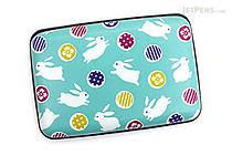 Kurochiku Japanese Pattern Accordion Card Case - Tobi Usagi (Rabbits) - KUROCHIKU 71506802