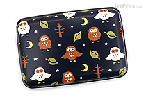 Kurochiku Japanese Pattern Accordion Card Case - Fukurou (Owl) - KUROCHIKU 71506803