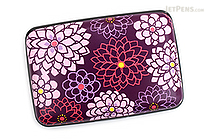 Kurochiku Japanese Pattern Accordion Card Case - Tenjiku Botan (Dahlia) - KUROCHIKU 71506804