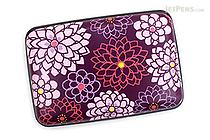 Kurochiku Japanese Pattern Accordion Card Case - Tenjiku Botan (Dahlia) - KUROCHIKU 71506804