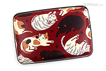 Kurochiku Japanese Pattern Accordion Card Case - Neko Darake (Cats) - KUROCHIKU 71506805