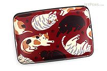 Kurochiku Japanese Pattern Accordion Card Case - Neko Darake (Cats) - KUROCHIKU 71506805